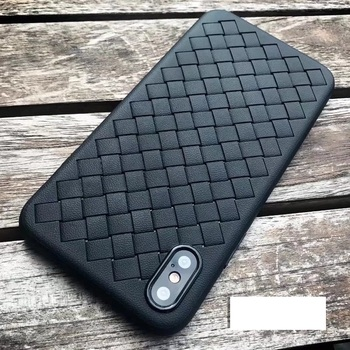 Wholesale Woven Testure Strips Weave Soft TPU Shockproof Breathable Case  for Iphone X XR XS XS MAX 6s 7 6 7 8 PLUS 100pcs/lo