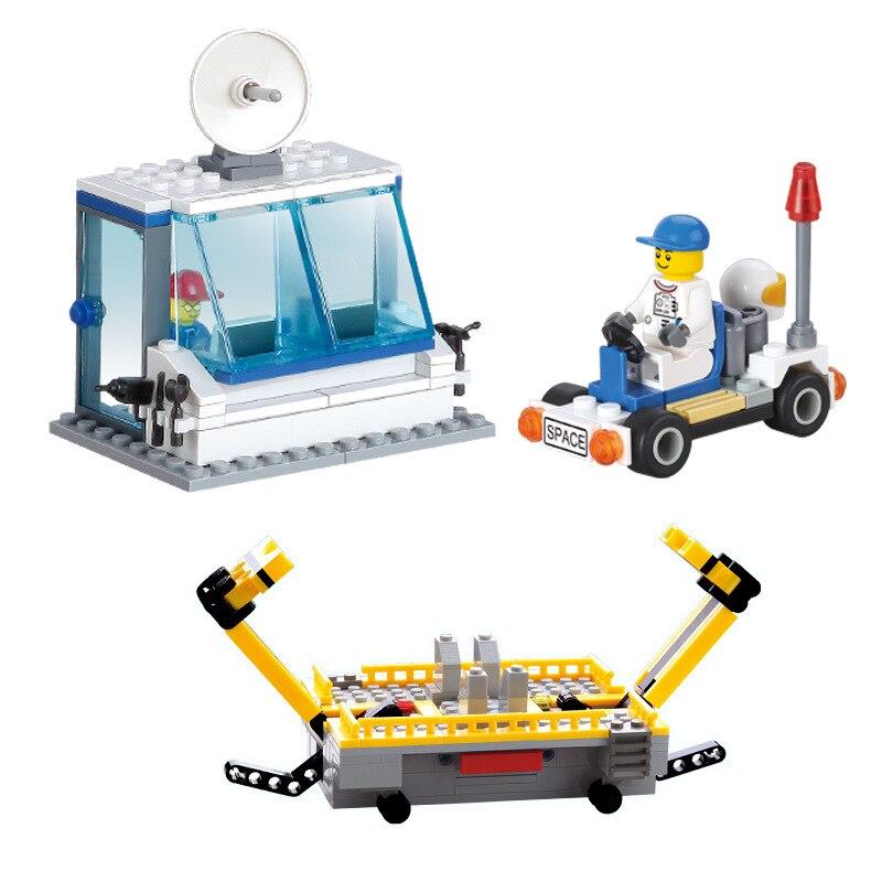 Kazi Aerospace Building Blocks Kid Enlighten Block Space Rocket Launch Center Building Blocks Compatible Legoe Toys For Children-in Model Building Kits from Toys & Hobbies    3