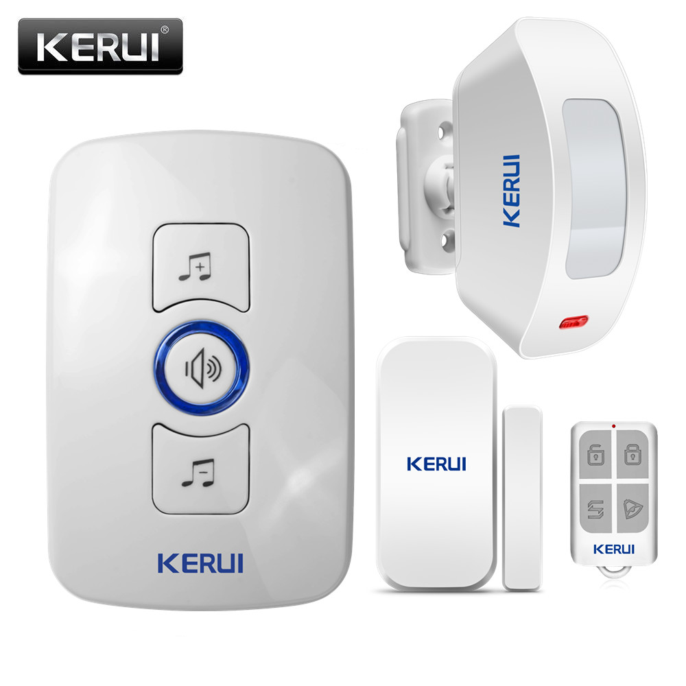 KERUI Simple Version Security Door Bell Alarm System Local Alarm With 32 Music Options 4 Volume Support 1527/2262 Code Chip