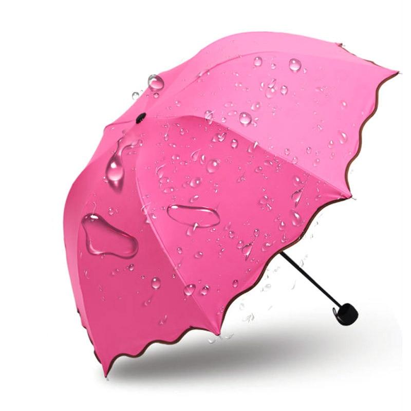 Paraguas Hojas Ola Princesa Volando Plegable Domo de loto Sol Lluvia - Bienes para el hogar