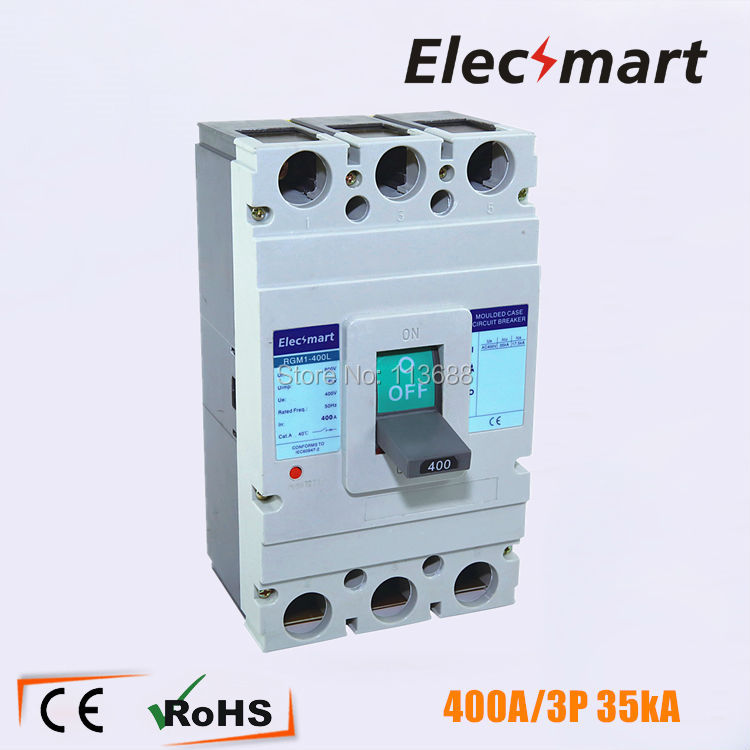 350A 3P mccb 35kA moulded case circuit breaker suits for South Africa 400a 3p 220v ns moulded case circuit breaker