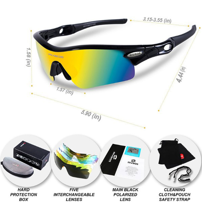 7565be6e1f RIVBOS Polarized Sports Sunglasses Men Women for Cycling Running Fishing  Driving Eyewear Glasses Oculous Gafas Ciclismo 2017-in Cycling Eyewear from  Sports ...