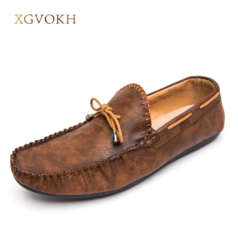 Men Casual Shoes Boat Shoes Man Fashion Good Men's PU light comfortable Driving Flats Mens Chaussure Homme Slip-on Loafers men leather boat shoes vintage lace up casual driving shoes man fashion flats chaussure homme large size 46 loafers zapatillas