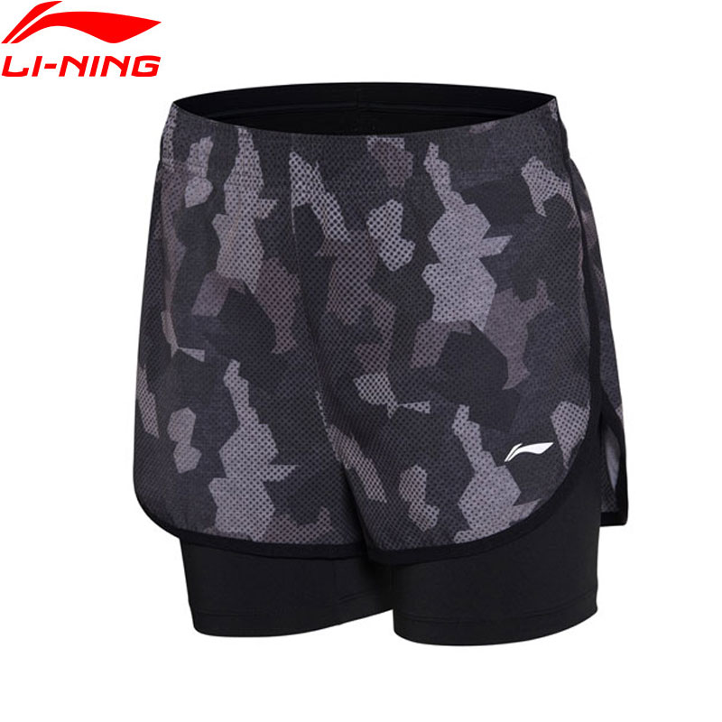 (Clearance)Li-Ning Women Badminton Competition Shorts Regular Fit Breathable LiNing Printed Comfort Sports Shorts AAPN012 WKD564