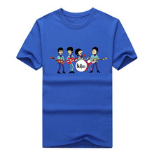 Fashion The Beatles Men T Shirts Short Sleeve Round Neck Hip Hop Man t-shirts Rock Band Fashion Male Tee Shirts 1206-9