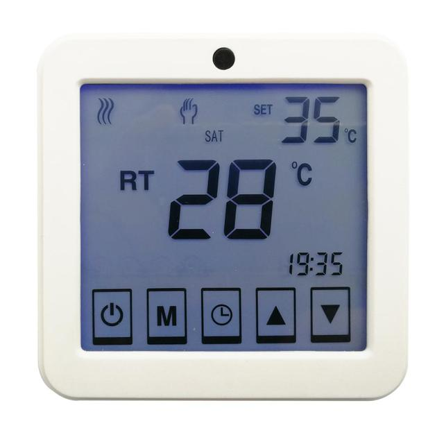 TF brand electric heater thermostat touch screen type with temperature sensor inside and probe sensor with 3 meters cable