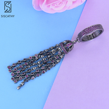 21*48 mm Unique Circle Ring Tassel Finger Rings Statement Cubic Zirconia Round Circle Ring For Women Girls Party Engagement bohemian leaves circle finger ring