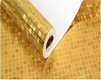 beibehang Golden fashion wall paper gold foil gold yellow silver KTV box hotel bedroom living room project ceiling 3d wallpaper