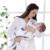 Recibir Mantas de muselina 100% Ángel Impresión de Algodón Orgánico Recién Nacido Transpirable Cojín Suave Caliente Swaddle Wrap bolsa Multifuncional