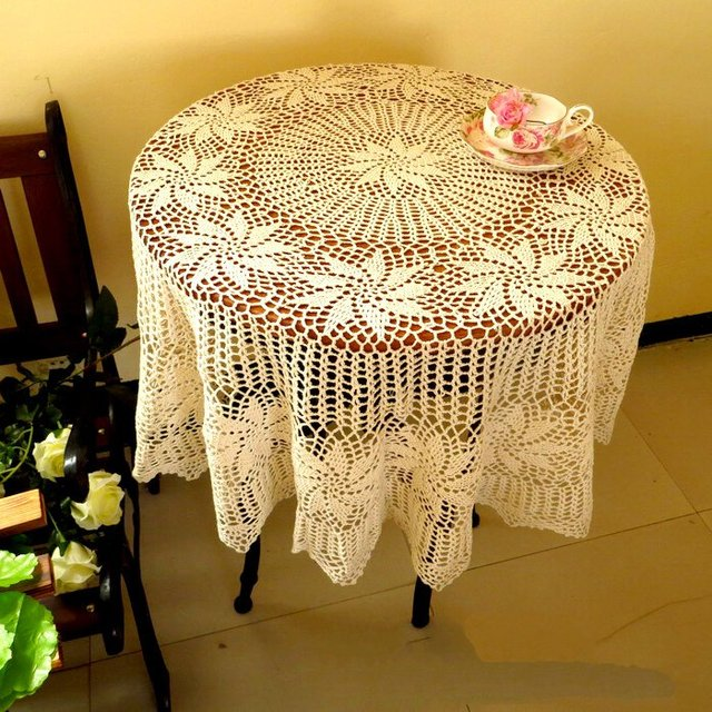 Accessoires de salle manger nappe mariage table ronde - Table ronde nappe ...