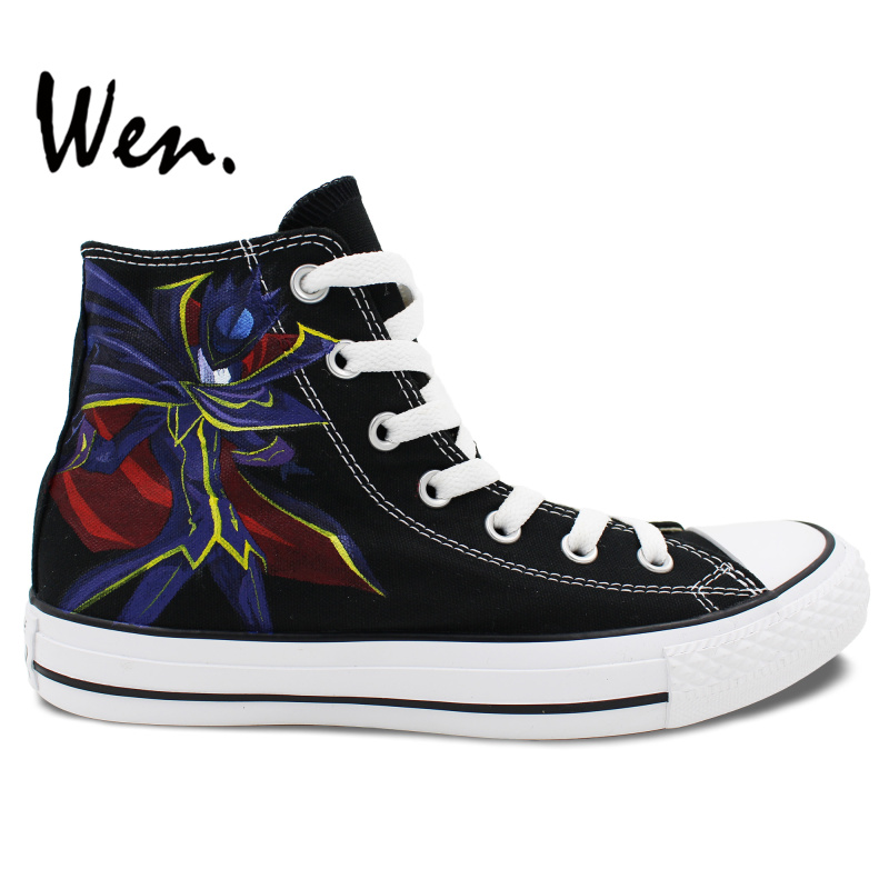 Wen Sneakers Hand Painted Shoes Design Custom Anime Code Geass Lelouch High Top Women Men's Black Canvas Athletic Shoes Presents wen hand painted unisex shoes custom design anime black butler men women s high top canvas shoes christmas birthday gifts