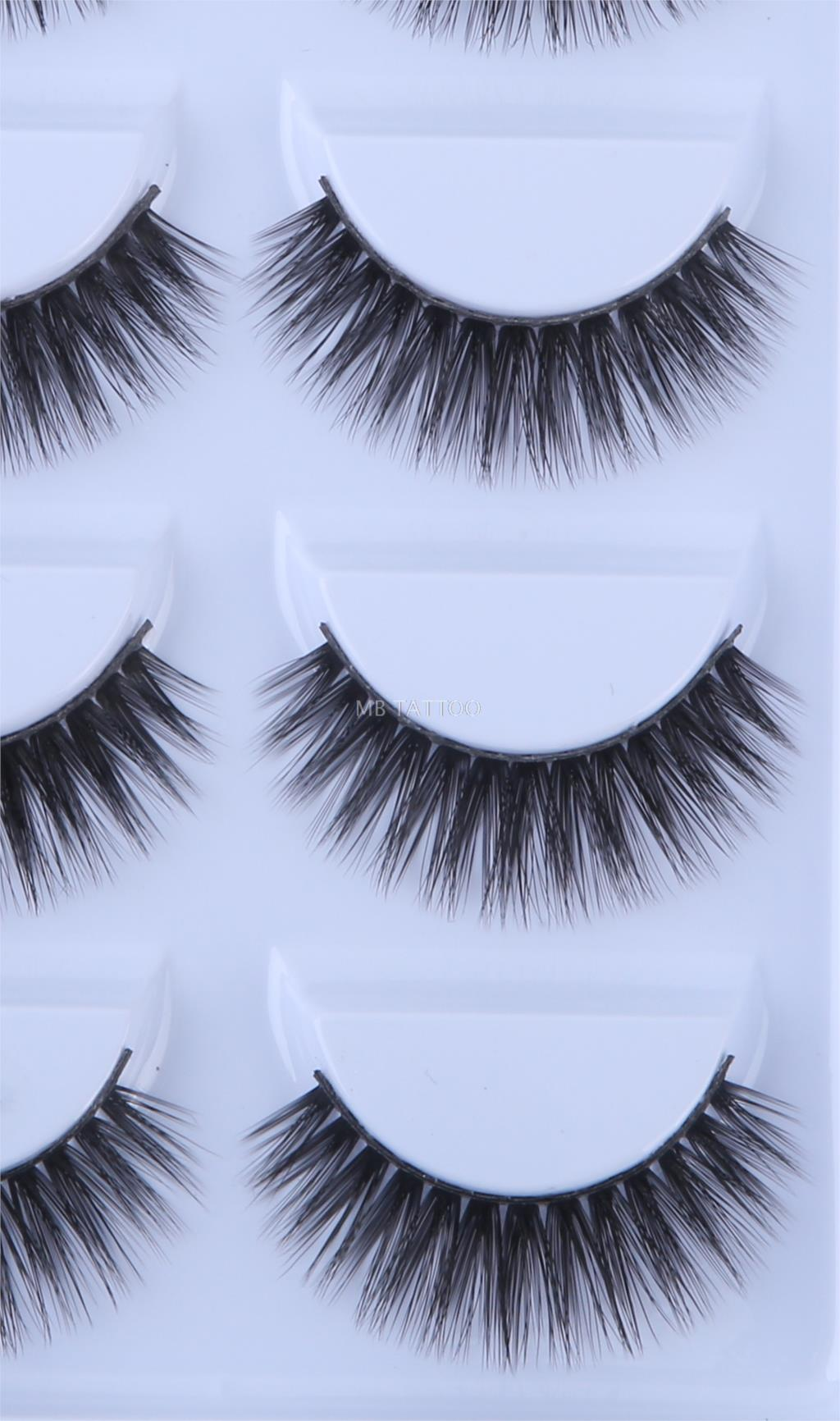 HTB1ajUUQW6qK1RjSZFmq6x0PFXag New 3D 5 Pairs Mink Eyelashes extension make up natural Long false eyelashes fake eye Lashes mink Makeup wholesale Lashes