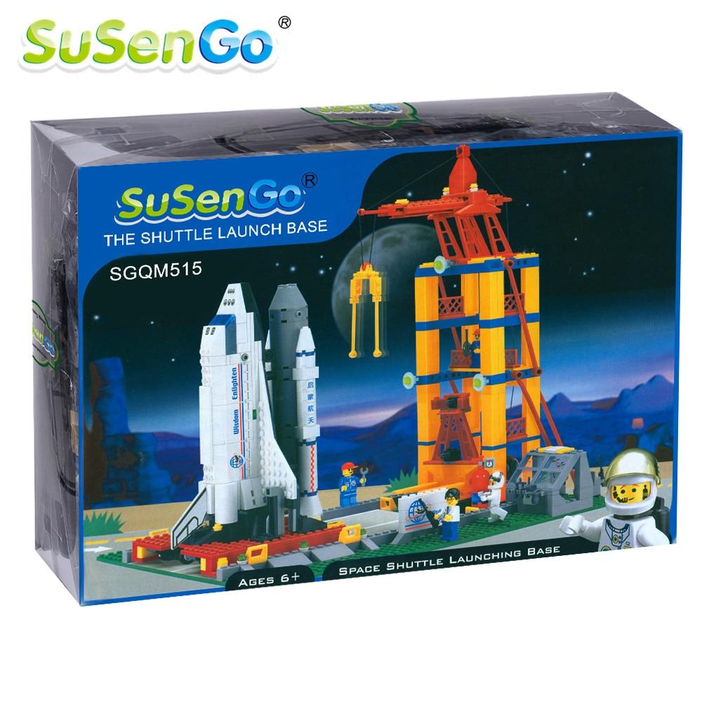ФОТО SuSenGo Space Shuttle Launching Enlighten Building Block Construction Kids Toys Educational Gift