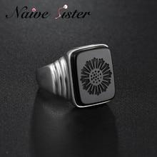 Top Kwaliteit Leonardo Dicaprio Ring De Grote Gatsby Black Onyx Ringen Voor Mannen Liefde Sieraden Groothandel