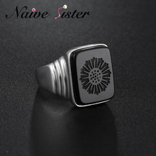 Top Quality Leonardo Dicaprio Ring The Great Gatsby Real 925 Sterling Silver Black Onyx Rings For Men Love Jewelry Wholesale