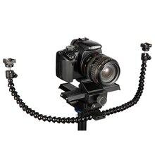Octodods arm studio macro twin speedlight flash luz speedlite suporte de montagem para câmera