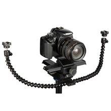 Octopods arm studio 매크로 트윈 스피드 라이트 플래시 라이트 스피드 라이트 브래킷 마운트 홀더 카메라 용