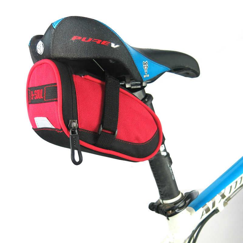 B-SOUL Waterproof Bike Tail Saddle Bag MTB Bicycle Rear Seat Pack W// Taillight