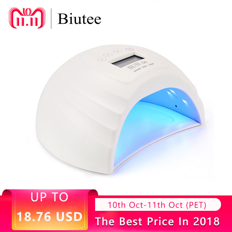 Biutee 36W Nail Dryer Dual UV LED Nail Lamp Gel Polish Curing Light With Bottom 30s/60s/99s Timer LCD Display Lamp For Nails beautybigbang 36w uv lamp led nail lamp dryer 18 leds nail dryer for all gels polish with 30 60 99s timer lcd display nail lamp