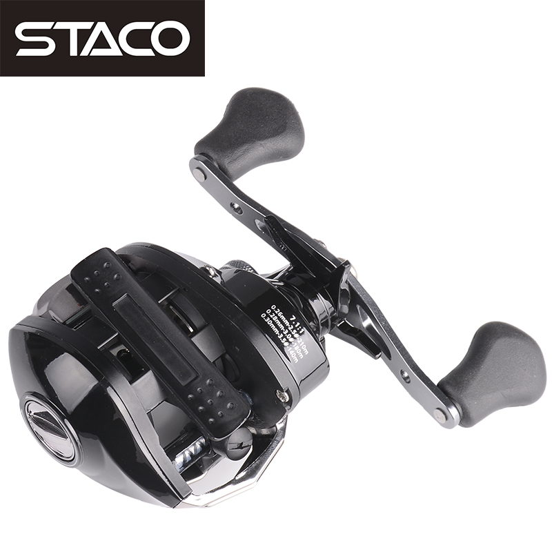 STACO Right/Left Baitcasting Reel 17+1BB 7.1:1 Bait Casting Fishing Reel Magnetic Brake One Way System High Speed Fishing Reel цена