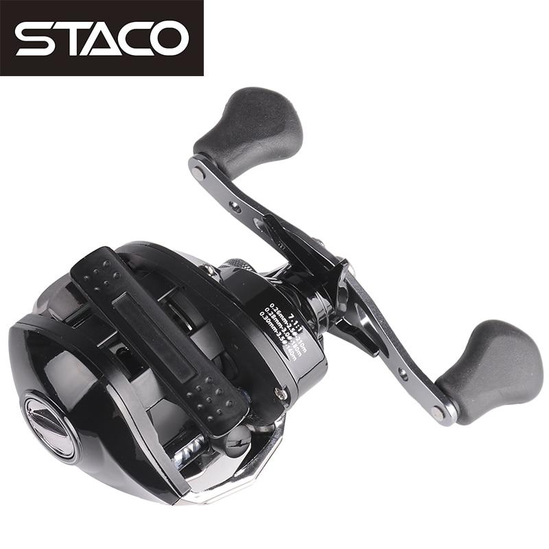 STACO Right/Left Baitcasting Reel 17+1BB 7.1:1 Bait Casting Fishing Reel Magnetic Brake One Way System High Speed Fishing Reel