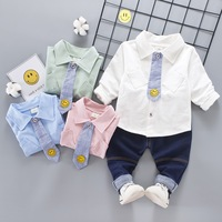 Clothing Set Spring New Boys Shirt Tie Three Piece Set Kids Wear Children Kid Clothes Suits Formal Wedding Party Costume