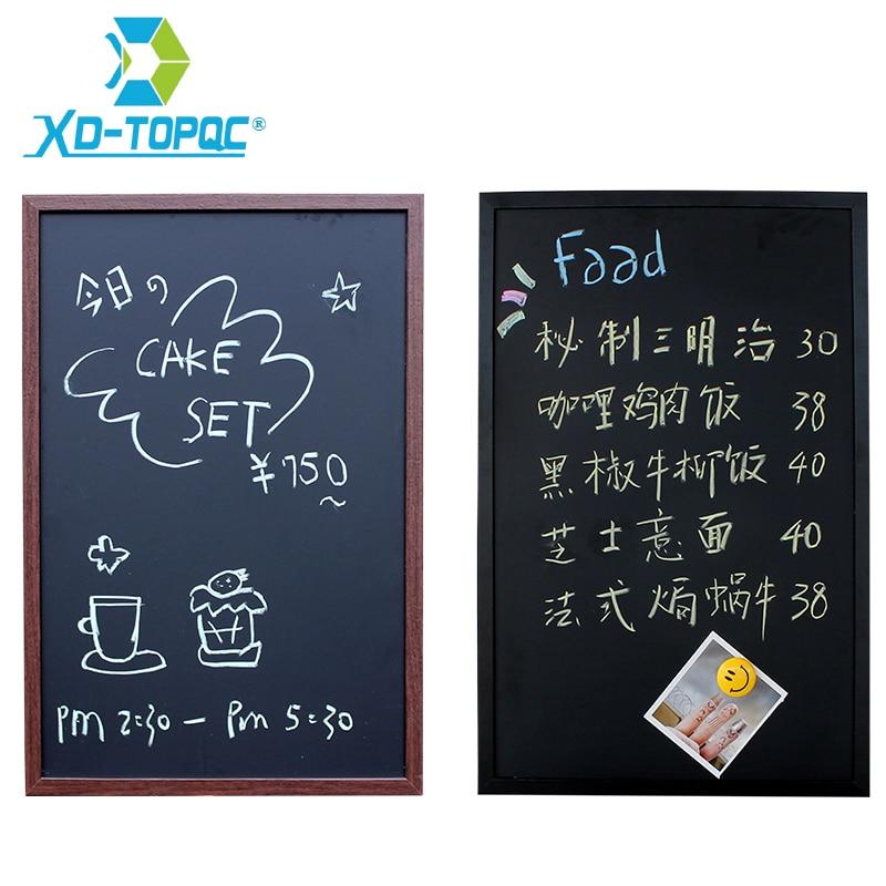 Magnetic 40*60cm BlackBoard MDF Wood Frame ChalkBoard Free Accessories Black Board Dry Erase Board Restaurant Office Supplier