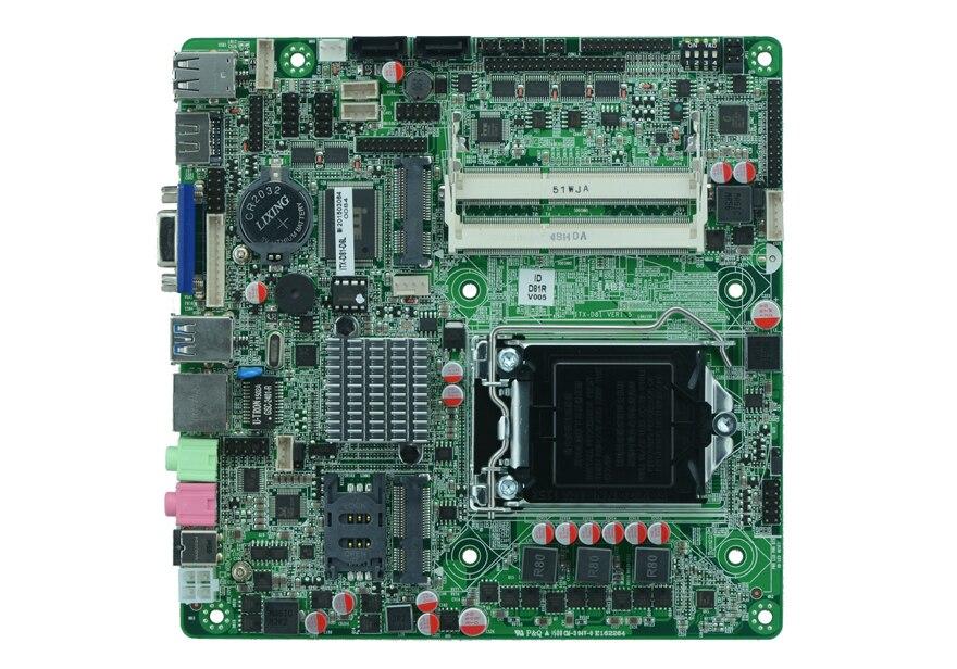 Carte mère industrielle H81 Lga 1150 socket AIO Mini PC Support de carte mère IntelLGA1150 Socket Core i3/i5/i7/Pentium processeur