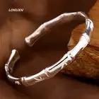 Женский модный изящный Открытый 100% 999 серебряный модный браслет браслеты с бамбуковым принтом знаменитый браслет, женская бижутерия подарок - 1