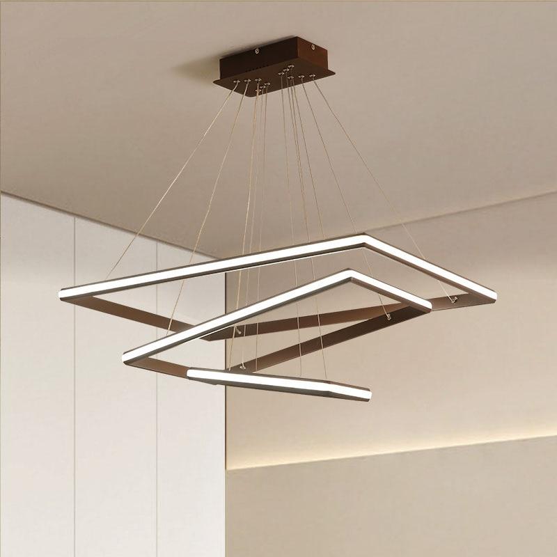 Lumières de pendentif LED de style nordique de minimalisme brun/blanc pour la salle à manger-in Lampes à suspension from Lampes et éclairages on Northern Lighting Store