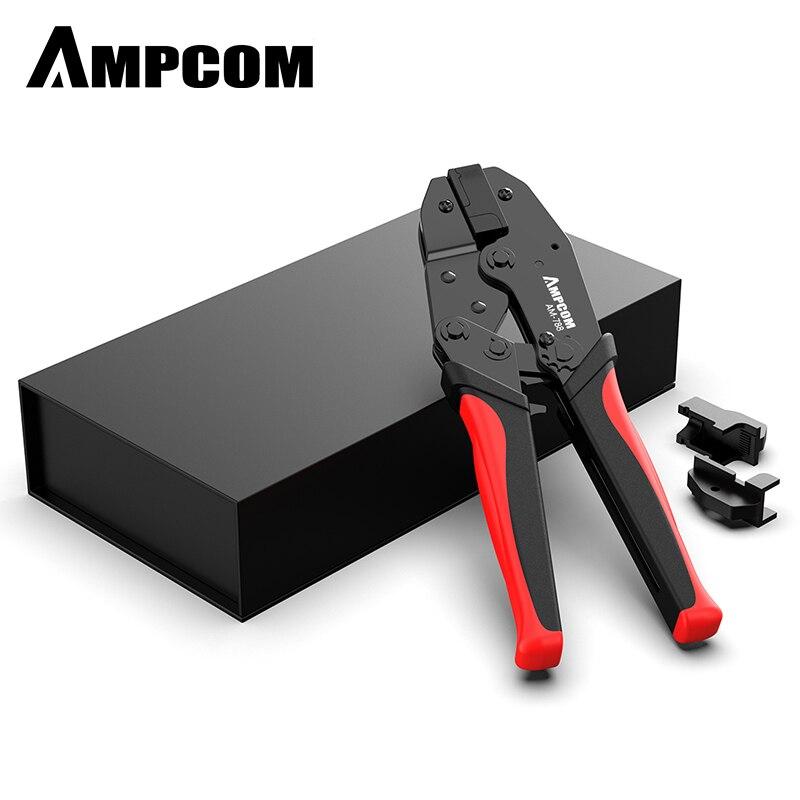 CAT7 Crimper Tool Crimping Plier AMPCOM Network Professional Crimper For CAT7 CAT6A STP Modular Plugs With RJ45 8P8C Connector
