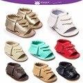 Romirus bebé mocasines borla shoes sandalias de la manera ocasional de la pu sandalias de cuero para niños niños chicas chicos-color beige