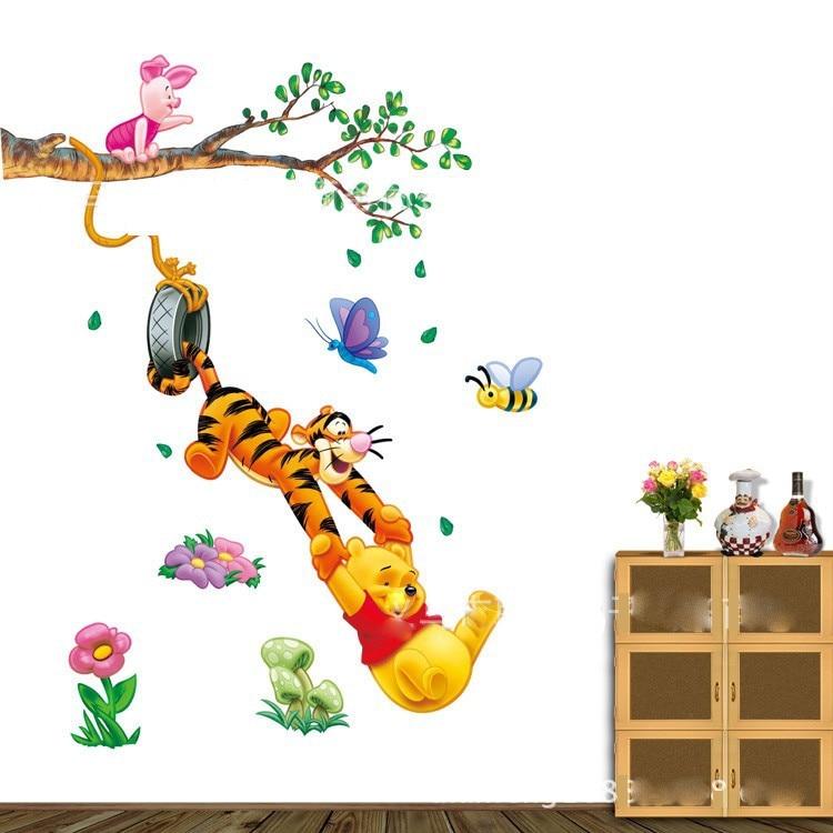About Winnie The Pooh Bear Piglet Tigger Wall Decals Sticker Decor