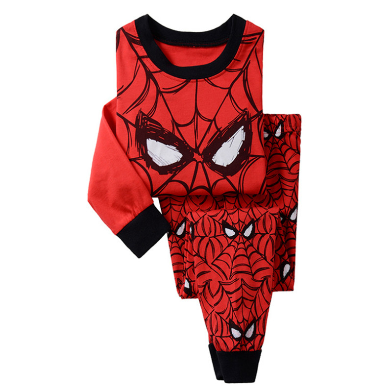 2019 new boys and girls children 39 s suits superhero Captain America Iron Man long sleeve 100 cotton pajamas cartoon image in Clothing Sets from Mother amp Kids