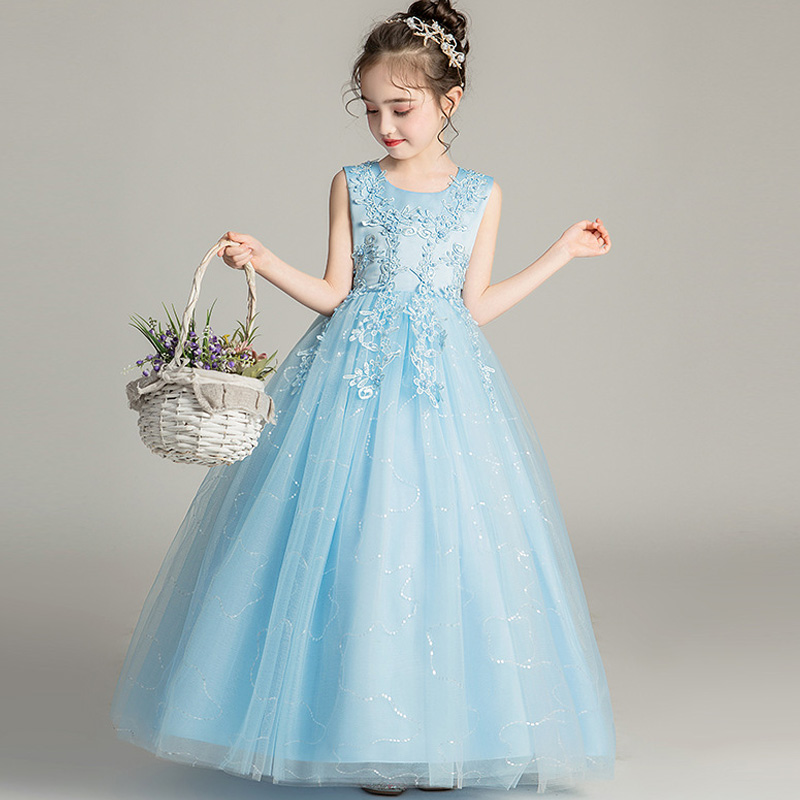 Flower     Girl   Party Banquet Fall and Winter Knitted Wool   Dresses   Floor Length   Girls   Pageant   Dresses   Wedding Party   Dress   vestidos