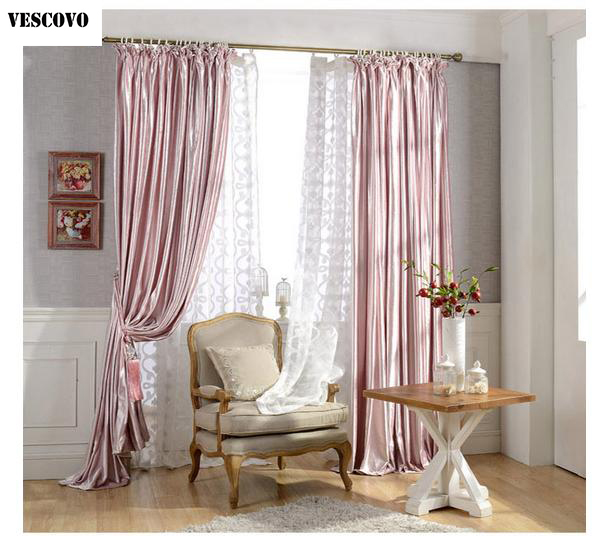Vescovo Pink Window Curtains For Living Room Luxurious Curtains And Tulle Jacquard Girls Bedroom Curtains