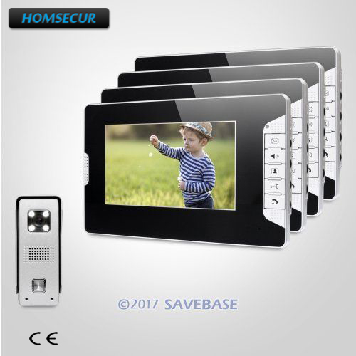 HOMSECUR 7 Hands-free Video Security Door Phone with IR Night Vision for Home Security