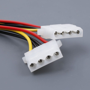 Image 4 - Computer Cable 4/15 Pin IDE Power Splitter 1 Male To 2 Female IDE/SATA  Power Cable Y Splitter Hard Drive Power Supply Cable