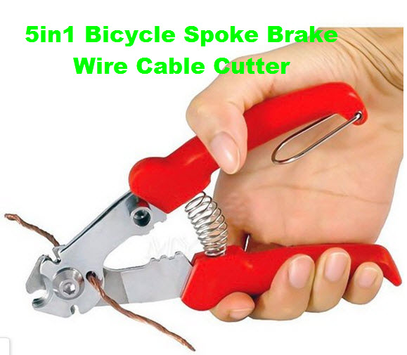 5in1 Bicycle Spoke Brake Wire Cable hose Cutter Plier for bike ...