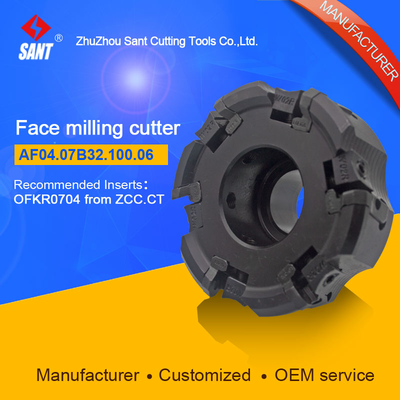Indexable milling cutter milling tools Match insert OFKR0704 face cutter cutting disc FMA04-100-B32-OF07-06/AF04.07B32.100.06 high quality indexable milling cutter face milling tools bmr03 025 xp25 m for carbide insert xpht25r1204
