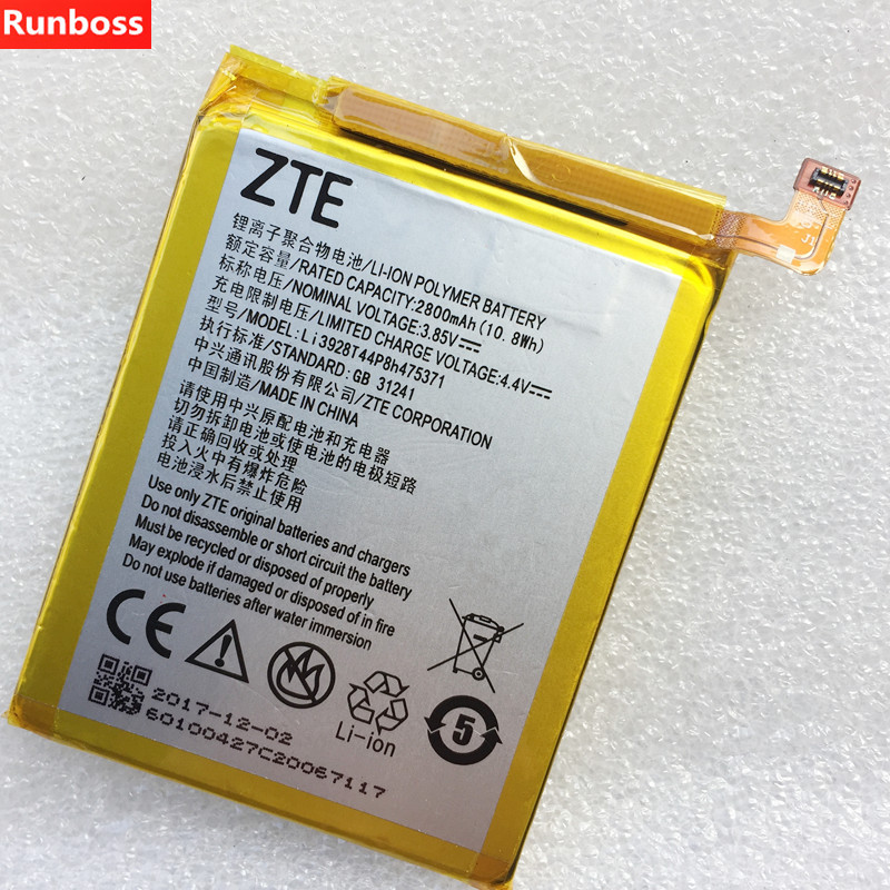 2800mAh Li3928T44P8h475371 Battery For ZTE Blade A1 C880 C880U C880A C880S AXON Mini B2015 B2016 Xiaoxian3 Batteries in Mobile Phone Batteries from Cellphones Telecommunications