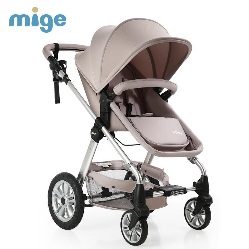 Mige Strollers For Dolls Light and Inflatable Wheel Baby Carriage
