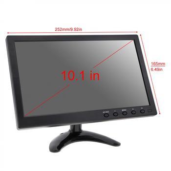 10.1 بوصة HD IPS TFT LCD شاشة ميني تلفزيون الكمبيوتر 2 قناة مراقبة الأمن إدخال الفيديو مع رئيس AV BNC VGA HDMI 2