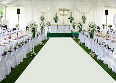Express Shipping 37 4 W 50ft L Diy Wedding Aisle Runner White Matt Plain Transfer Various Color For Choice In Party Decorations From Home