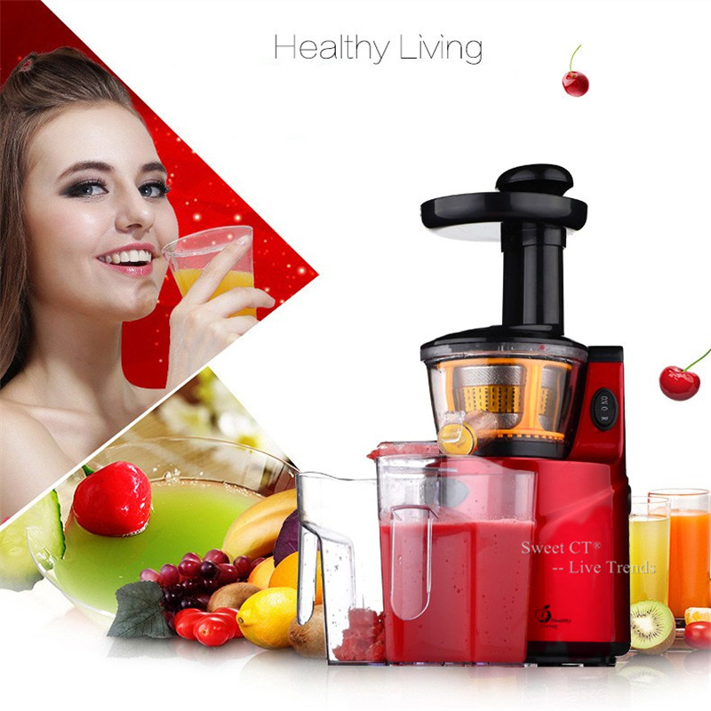 Slow Juicer 250W Fruits Vegetables Low Speed Slowly Juice Extractor Juicers Fruit Drinking Machine For Home