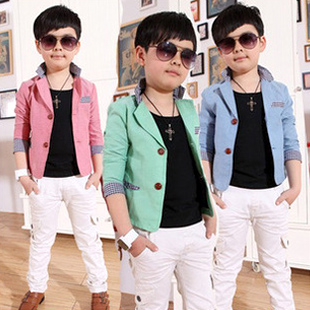ce92a4d334d0 2014 children fashion candy color single breasted blazer boys blazer kids  casual suit