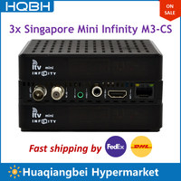 3 ADET Singapur HD TV Set Top Box itv mini Infinity M3-CS Ch855 Siyah Kutu C801 Artı Izle Kanallar Ch227 Yükseltme Ch213