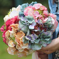 2016 New Bridal Hydrangea Flower Artificial Flower bouquet bride bridesmaid Silk flowers wedding bouquet FW174