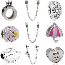 Punk Silver Color Small DIY Trophy Map Purse Cartoon Mickey Alloy Beads Fit Pandora Charms Bracelets Necklaces for Women Jewelry(China)