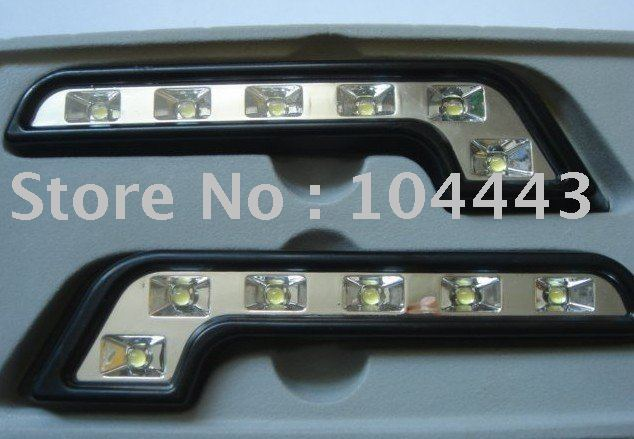 NEW 100% ! L Shape LED Drl 6w/ LED DAYTIME RUNNING LIGHT / AUTO DAYTIME LIGHTING